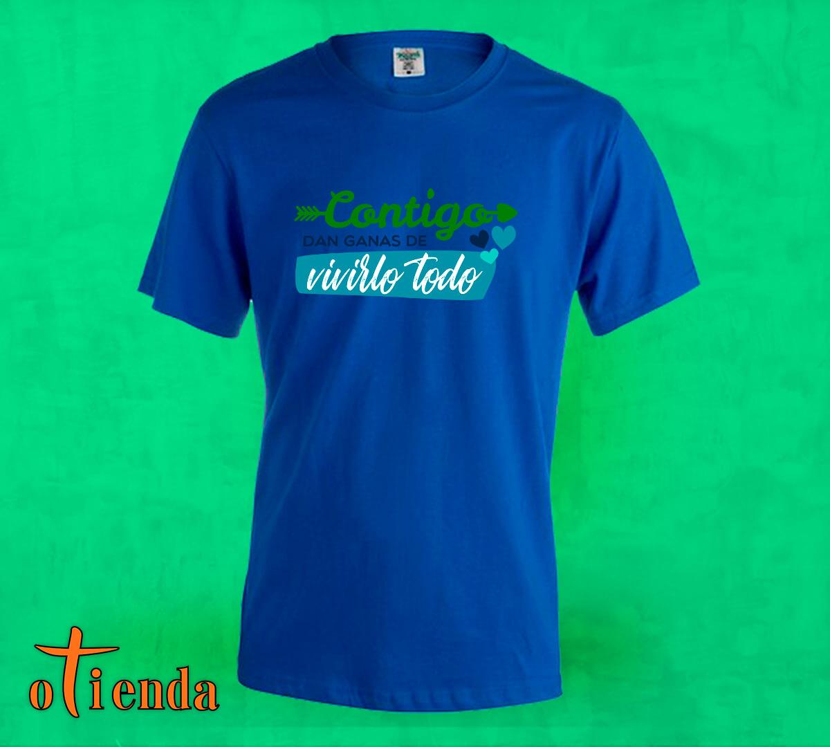 Camiseta de color Frases de Amor personalizada