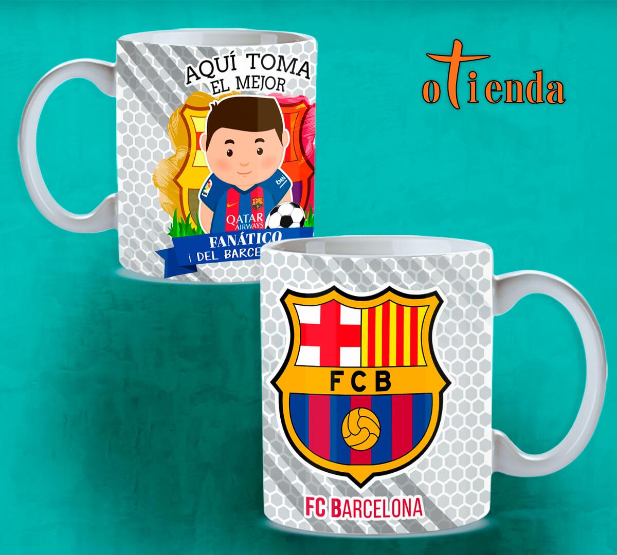 Taza Mug cerámica Aquí Toma uno del Barcelona FC personalizada