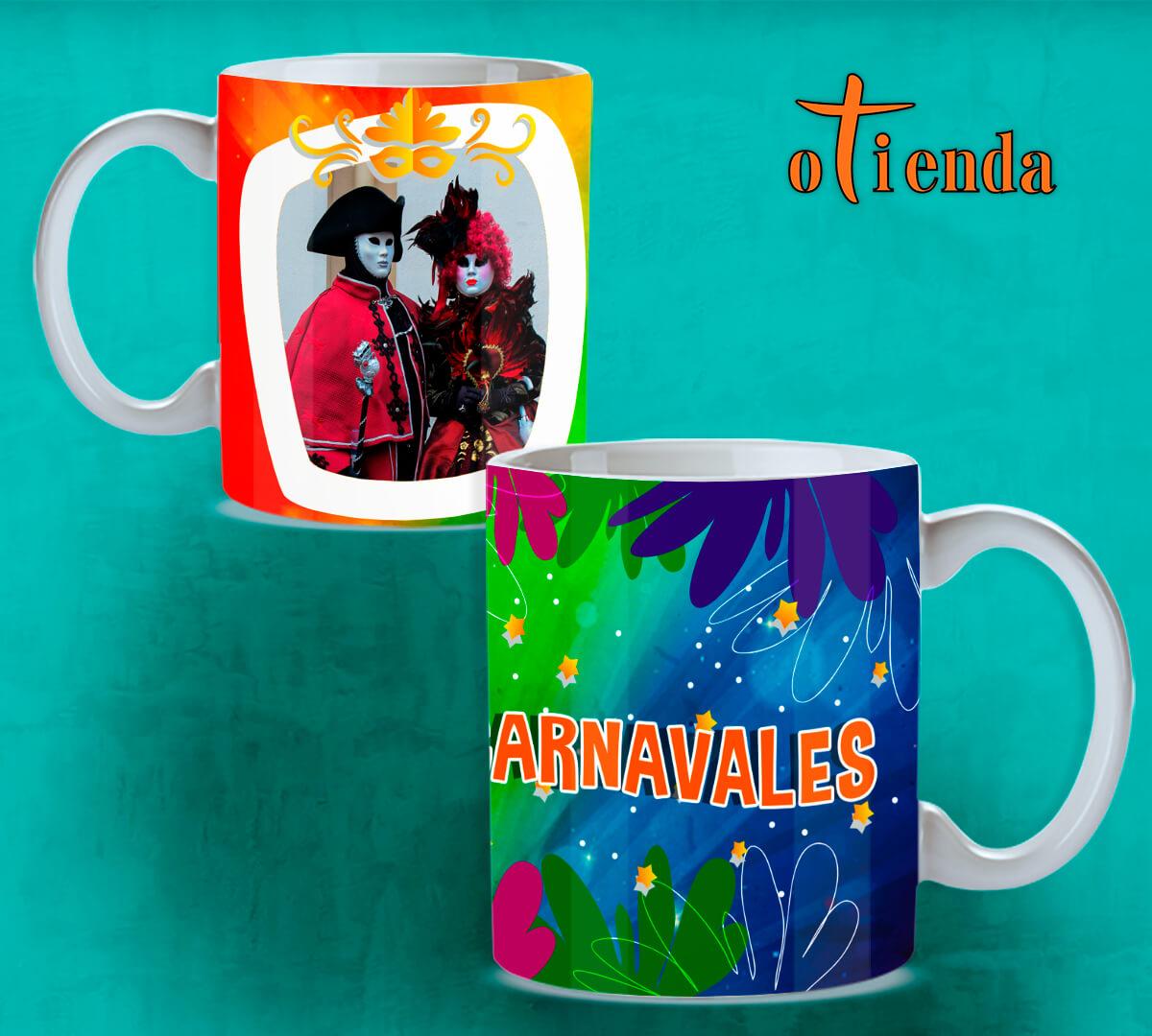 Taza cerámica Carnaval personalizada