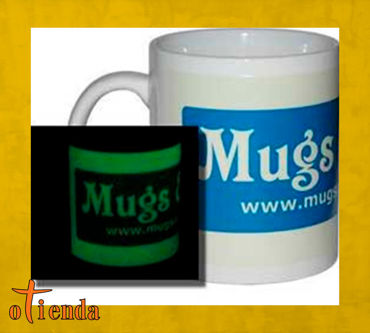 Taza Mug cerámica Fotoluminiscente personalizada