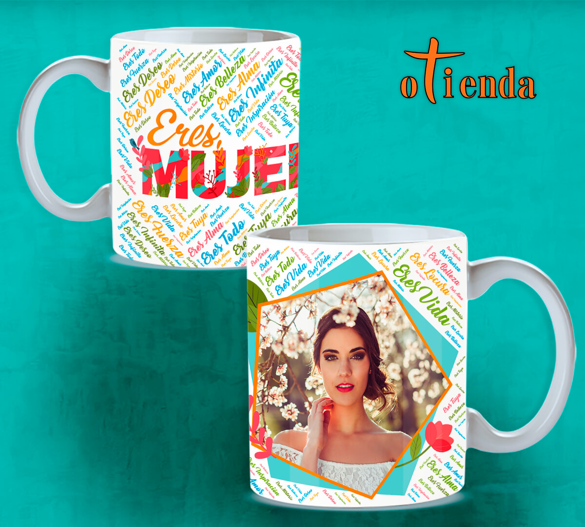 Taza cerámica Día de la Mujer personalizada