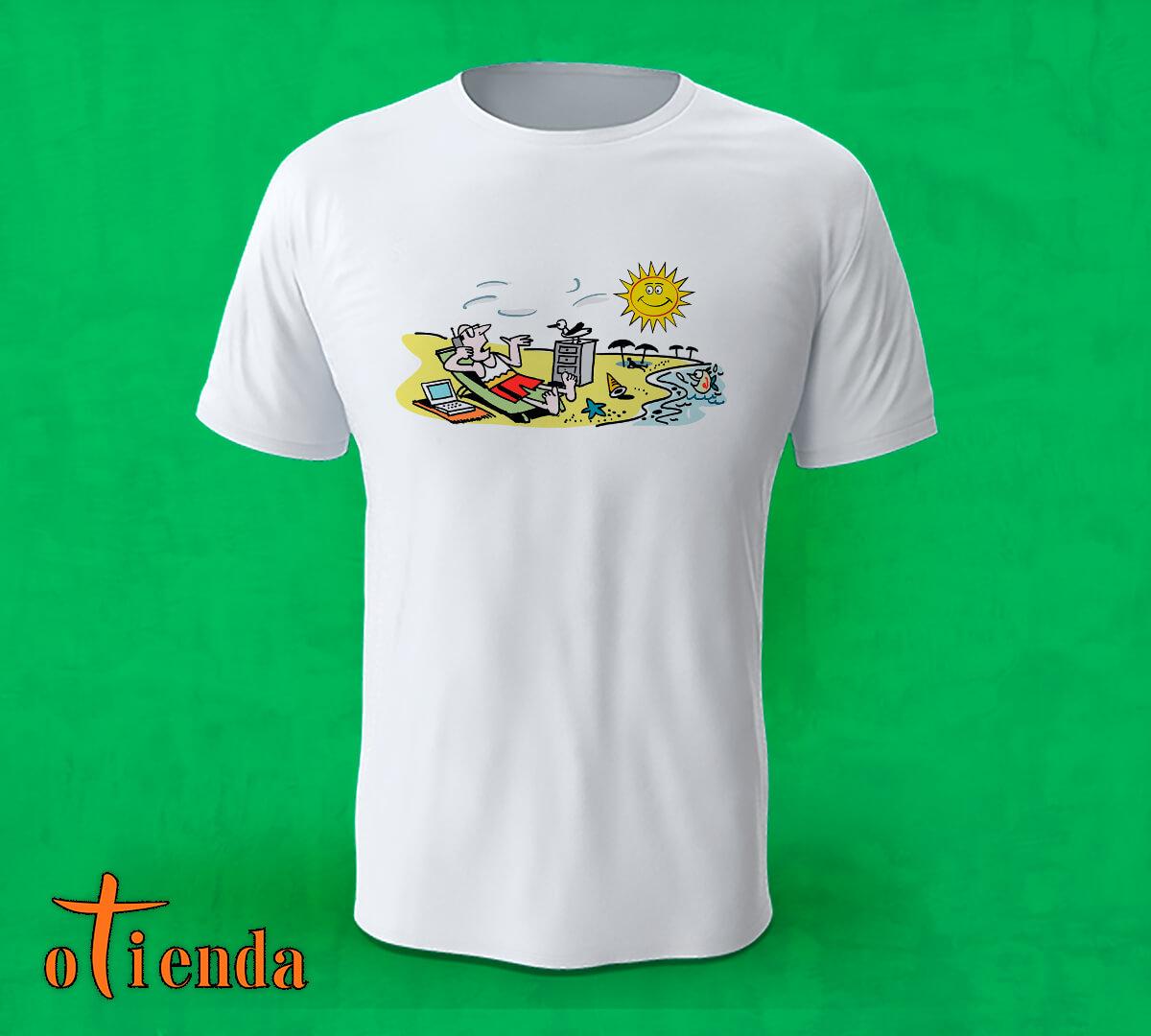 Camiseta Empresario en la Playa personalizada