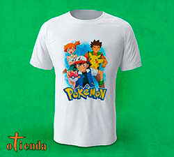 Camiseta Pokémon personalizada