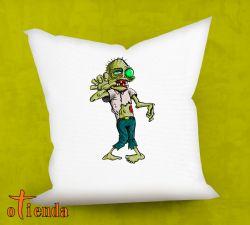 Cojín Hombre Zombie de 40 x 40 cm personalizado