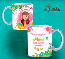 Taza cerámica Aquí Toma una Madre personalizada