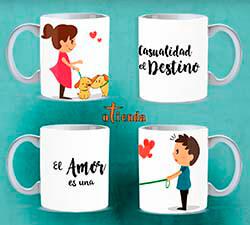 Taza cerámica Pareja de Amor personalizada