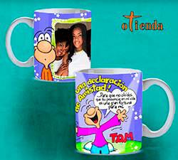Taza cerámica Amistad personalizada