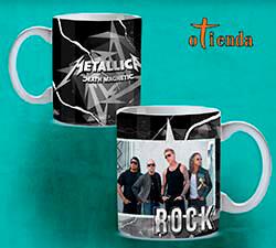 Taza cerámica Bandas de Rock personalizada