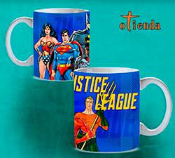 Taza cerámica La Liga de la Justicia personalizada