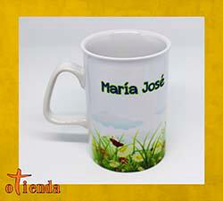 Taza cerámica Borde Curvado Día de la Mujer personalizada