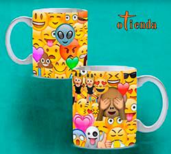 Taza cerámica Emoticonos personalizada