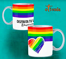 Taza cerámica Orgullo Gay personalizada