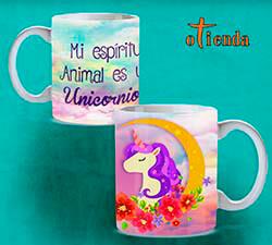 Taza cerámica Unicornios personalizada