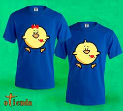 Camiseta de color Amor en Pareja personalizada