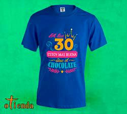 Camiseta de color Cumpleaños mujer personalizada