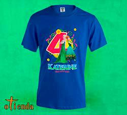 Camiseta de color Infantil personalizada