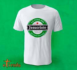 Camiseta Cristiana con logo de marca personalizada