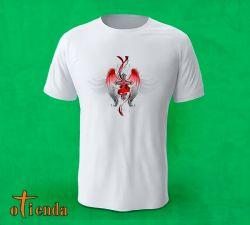 Camiseta con una cruz gótica personalizada