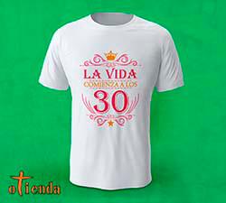 Camiseta Cumpleaños mujer personalizada