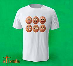 Camiseta Huevos con Caras personalizada