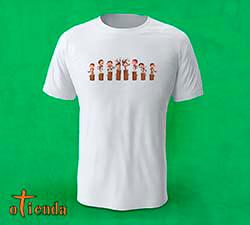 Camiseta Monos en Troncos personalizada