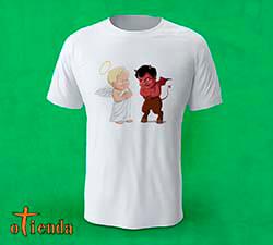 Camiseta Ángel y Demonio personalizada