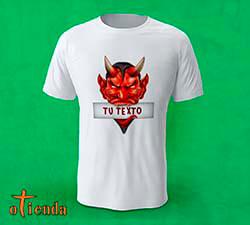 Camiseta Cabeza Demonio mordiendo Cartel personalizada