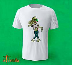 Camiseta Hombre Zombie personalizada