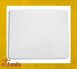 Puzzle forma rectangular personalizado de cartón 63 piezas con marco y peana