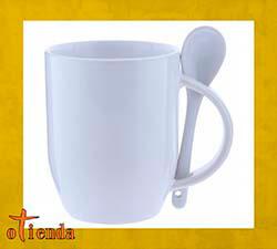 Taza cerámica con cuchara personalizada