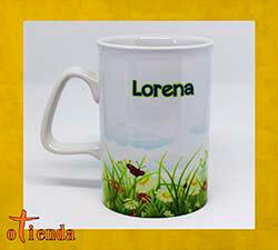 Taza cerámica Borde Curvado personalizada