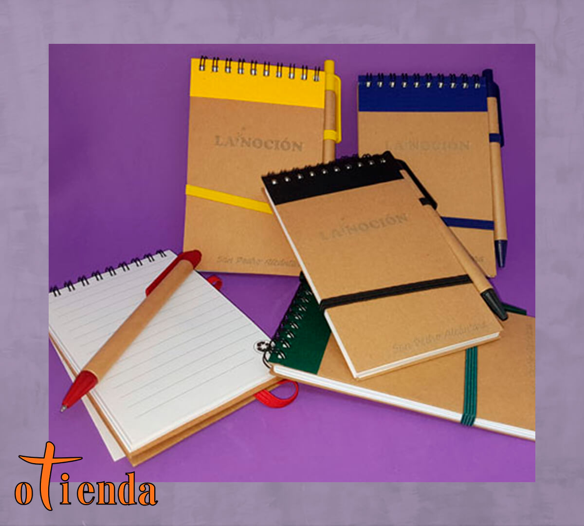 Libreta con bolígrafo ecológico La Noción