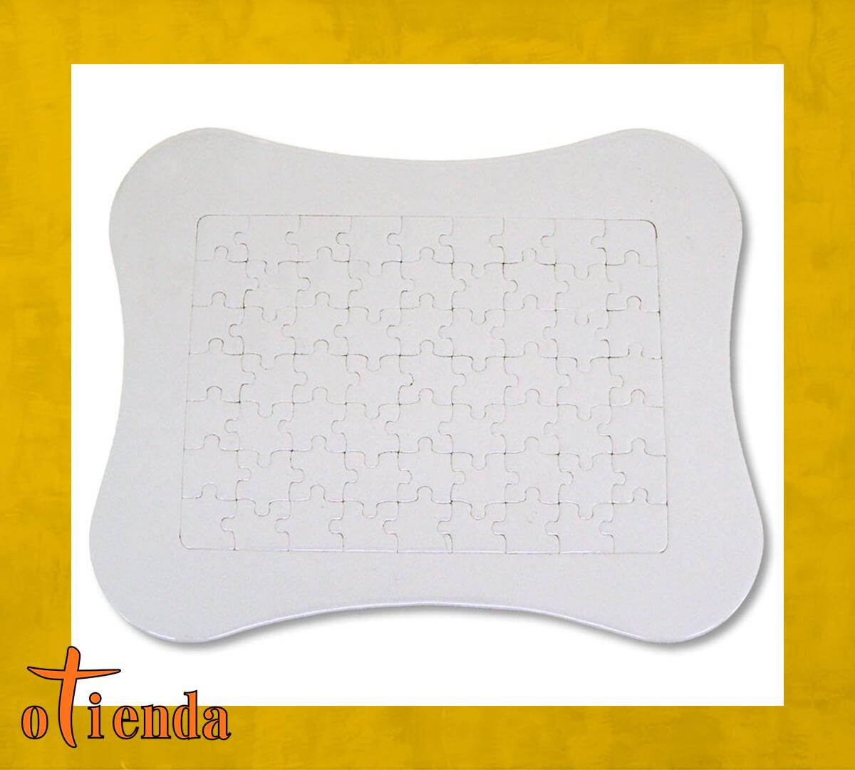 Puzzle forma almohada personalizado de cartón 63 piezas con marco y peana