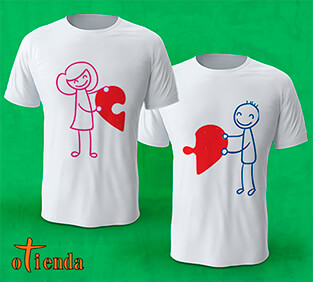 Camiseta Amor en Pareja personalizada