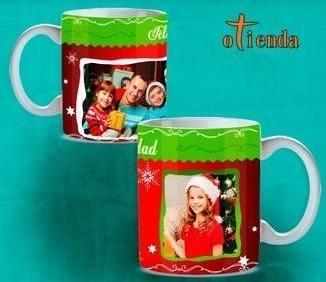 Taza cerámica Navidad personalizada
